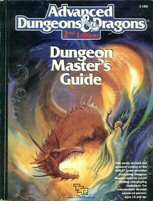 TSR AD&D 2nd Ed Dungeon Master's Guide (1st Printing) HC VG+