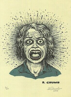 "R. Crumb ""Bring Me Your Love"" Signed & Numbered Art Print Charles Bukowski 1/200"
