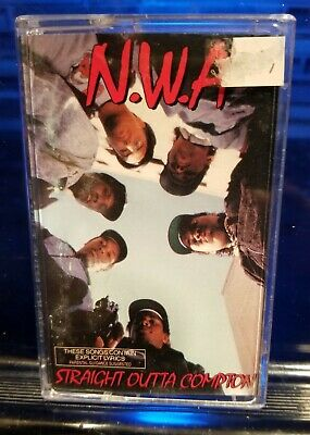 N.W.A. - Straight Outta Compton 1988 Cassette Tape nwa dr. dre ice cube eazy-e