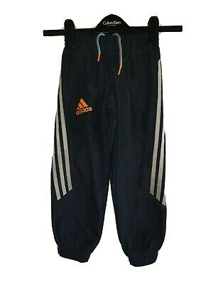 Boys ADIDAS Cuffed Tracksuit Bottoms Age 4-5 Years