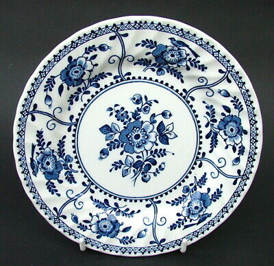 Johnson Brothers Indies Blue Breakfast or Sm Dinner Plates 22cm Early B/Stamp