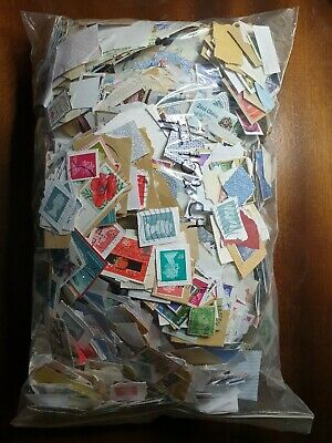 Stamps 1kg 1Kilo Kiloware GB UK MIX On Paper Direct From Charity & Unsorted #152
