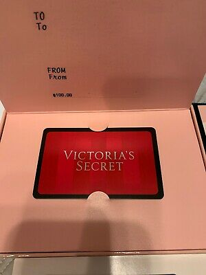 Victoria's Secret $100 Gift Card And Gift Box Ships ASAP