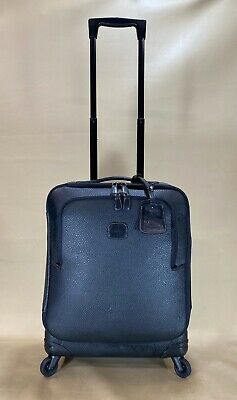 """Bric's Magellano 21"""" Carry On Spinner Suitcase Black Luggage BAE15250.101 $595"""