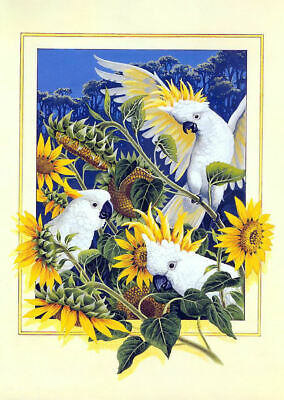 Sulphuer-Crested Cockatoo cross stitch chart