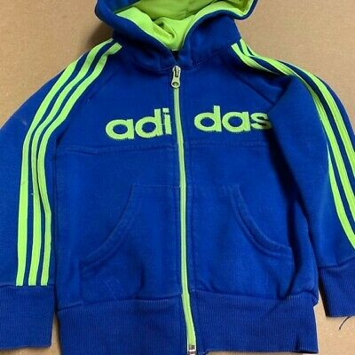 Adidas Blue/Yellow Sports Top Age 2 Years