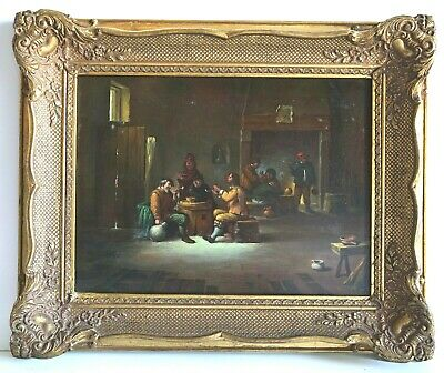 Fantastic Antique 17th/18th Century Dutch Old Master Fine Oil Painting