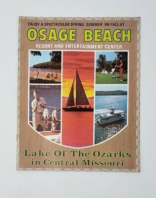 1972 Osage Beach Vintage Brochure/Travel Guide  - Lake of the Ozarks - Missouri