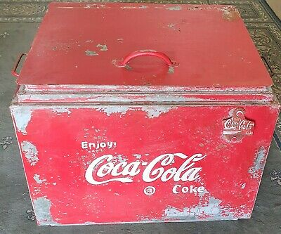 Enjoy Coca Cola Coke Retro Style Eski With Bottle Opener And Handles- Super Cool