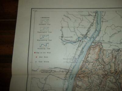 1906 Ohio County West Virginia Geological Survey Map, Geologic Outcrops