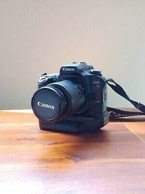 Canon EOS 33  Film Camera With BP-300 Battery Grip and EF 28-90mm f4-5.6