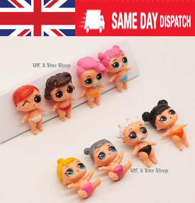 LOL SURPRISE DOLL Blind Mystery Figure Cake Topper Toy Mini baby 8PCS