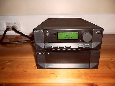 cyrus intergrated amplifer 8XPD-QX and PSX-R power supply in brushed black