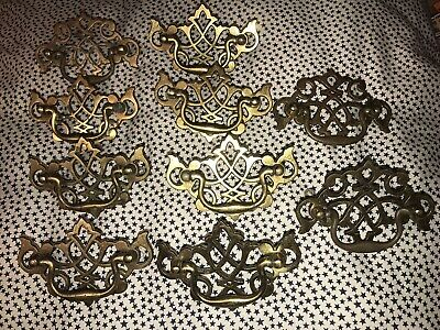 Vintage Brass Drawer Knobs With Swivel Handles