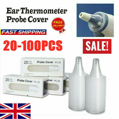 20 Probe Covers Thermoscan Replacement Lens Ear Thermometer Filter Cap For Braun