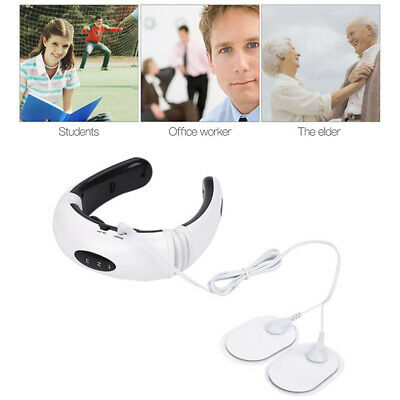Electric Pulse Back and Neck Massager Magnetic Heating Pain Relief Relaxing TOOL