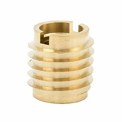 "E-Z Lok 400-4 Threaded Insert, Brass, Knife Thread, 1/4""-20 Internal Threads"