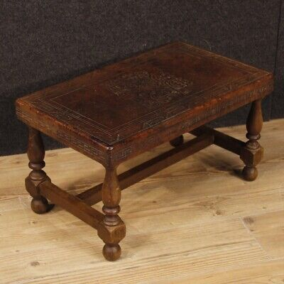Spanish bench furniture in wood antique style seat living room table chair
