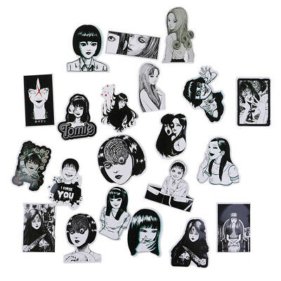 21pcs/set Horror Comic Sticker Thriller Horror Style Toy`Sticker Luggage Stic FT