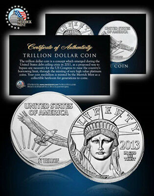 One Trillion Dollar Proof Tribute Coin
