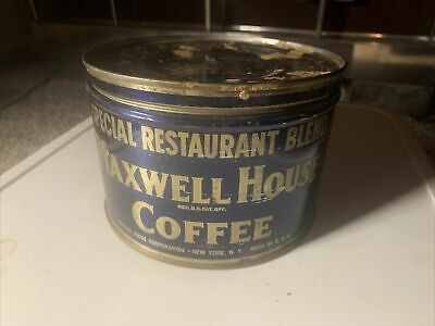 Vintage Maxwell House Coffee Can Special Restaurant Blend