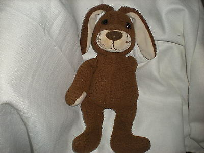 Tcm Brown Tan Germany Plush Bunny Rabbit Soft Lovey 14""