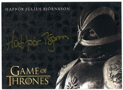 2020 Game of Thrones Season 8 Hafpor J Bjornsson (Gold) Autograph EXTREMELY LTD