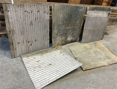 5 Pcs Corrugated Weathered Barn Tin Farmhouse Architectural Salvage Vintage d,