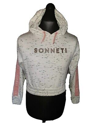 Girls SONNETI Cropped Fleece Hoodie Track Top Age 13-15 Years