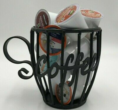 Wrought Iron Coffee Mug Keurig K Cup Holder Amish Handmade Holds 16 Cups USA