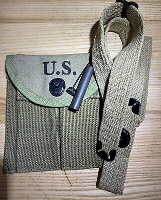 Wwii M1 Carbine Rifle Accessories Sling Oiler & Butt Stock Ammo Pouch Boyt 43