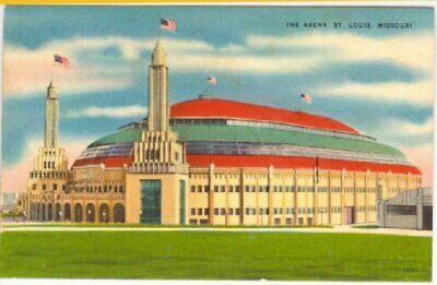 Vintage Linen Postcard The Arena St. Louis, Mo.