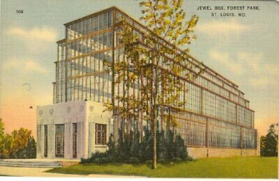 Vintage Linen Postcard Jewel Box, Forest Park, St. Louis, Mo.