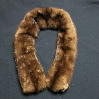 Vintage Fur Collar Brown Clasps