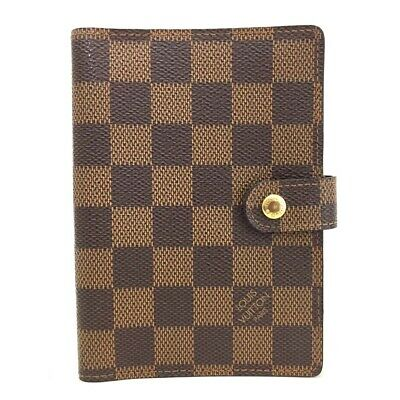 100% Authentic Louis Vuitton Damier Agenda PM Notebook Cover /o417