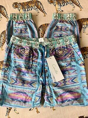"BNWT's CAMILLA kids girl boy boho Size 10 ""Stitch of the Condor"" cargo pants"