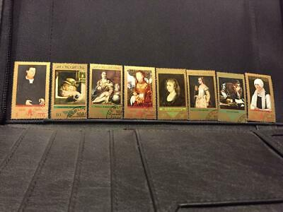 1973 GERMANY-D.R. Old Masters Paintings Set of 8 Precanceled MNH