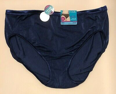 NWT Vanity Fair Illumination Hi-Cut Panty Navy Blue 13810 Size 12/5X