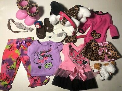 Doll Clothes And Accessories Lot With Our Generation Doll Cowgirl Hats Dresses +