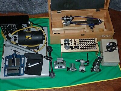 Vector 8 mm Precision Watchmakers Lathe Complete Set + Motor & Face Plate VG