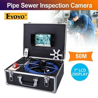 "Eyoyo 50M Pipe Under Water Sewer Inspection Endoscope Camera 7"" IP68 Waterproof"
