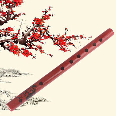 Traditional 6-Hole Bamboo Flute Clarinet Student Musical Instruments Wood Color