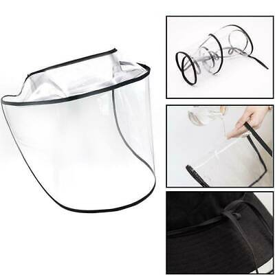 Hat-Mounted Transparent Shield Protective Cap Face Covering PVC Anti-fog Saliva
