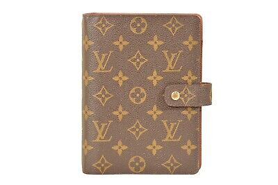 Louis Vuitton Monogram Agenda MM Diary Cover Organizer R20105 - YG00381