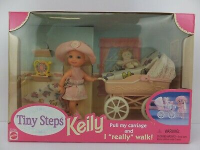 Tiny Steps KELLY Barbie Baby Sister Pushes Carriage and Walks 22226