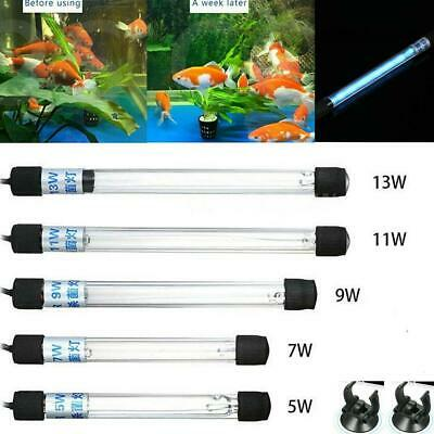 Aquarium Submersible UV Light Sterilizer Pond Fish Tank Germicidal Clean Lamps
