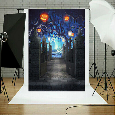 Halloween Theme Photography Backdrops Pumpkin Night Party Photo Background Props