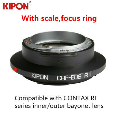 Kipon Adapter for Contax RF Mount Lens to Canon EOS R Camera wt scale focus ring
