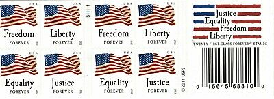 One Book Of 20 Four Flags Usps First Class Forever Postage Stamps