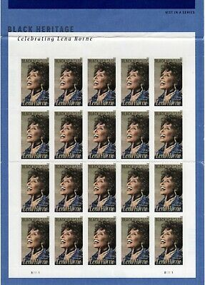 One Sheet Of 20 Lena Horne Usps First Class Forever Postage Stamps